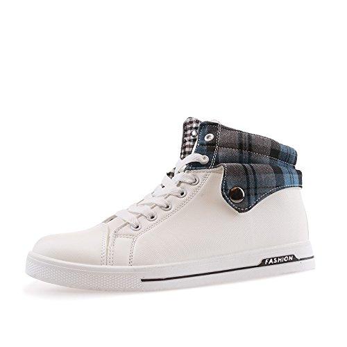 WZG zapatos del alto-top de los hombres jóvenes estudiantes de los calzados informales de los hombres Calzado deportivo White