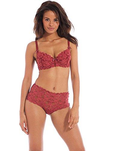 Balsamik - Shorty de encaje - - Size : 38/40 - Colour : Rojo
