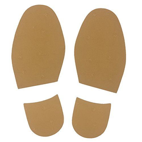 Shoe Repair Replacement Rubber Heels And Half Sole, different colors (Camel)