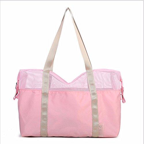 Tour de la Isla Playa Bolsa, Yoga Gym Bag, transparente bolsa de malla, bolsa de viaje,De gules Pink