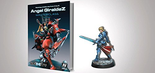 Infinity Book Painting Miniatures A to Z Ángel Giráldez Masterclass Vol 1 with Exclusive Joan of Arc Miniature - Exclusive Miniature