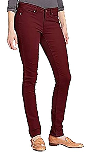 omen's Ultimate Skinny Power Stretch Corduroy Pant, Classic Plum, Size 6x30 ()