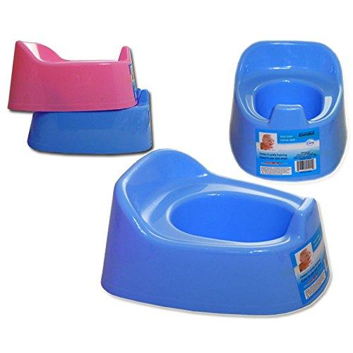 Portable Infant Baby Toilet Potty Training Chair Splashguard Lightweight Blue ()