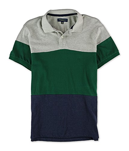 Aeropostale Rugby (Aeropostale Mens Colorblocked Rugby Polo Shirt 052)