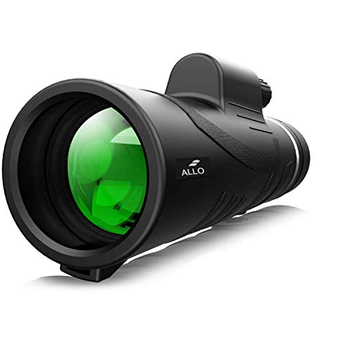 Allo 12x42 High Power HD Monocular Telescope, Low Night Vision Monocular for Adults with Phone Adapter and Tripod - Bird Watching, Hunting, Camping, Traveling, Outdoor Sports