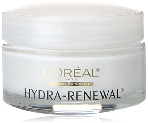 L'Oreal Dermo-Expertise Hydra-Renewal Continuous Moisture Cream Dry/Sensitive Skin 1.70 oz (Pack of 4)