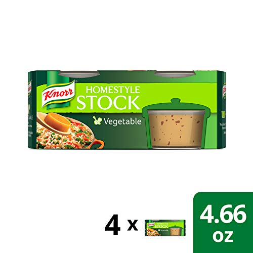 Knorr Homestyle Stock, Vegetable 4.66 oz, Pack of 4 ()