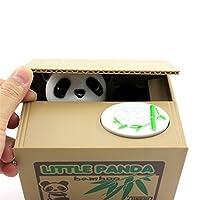 Niños lindos que roban monedas Centavos Penny Buck Ahorro Caja de dinero Caja de hucha Alcancía Panda