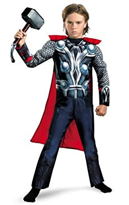 Disguise Boys Marvel Avengers Assemble Thor Classic Muscle Costume