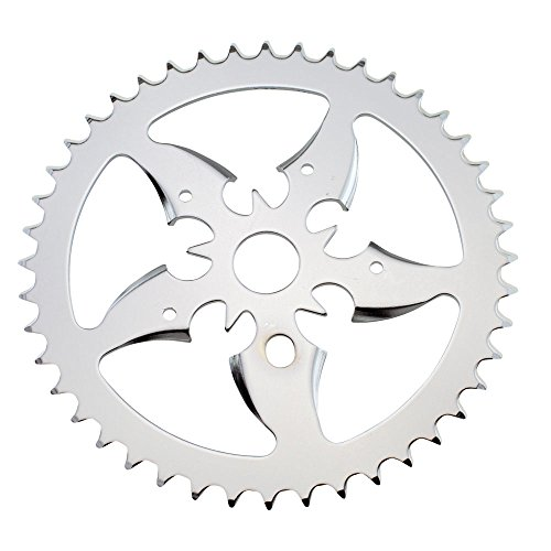 Fenix Tip Bike Sprocket/Chain Ring Chrome, Various Sizes (44 Teeth) ()