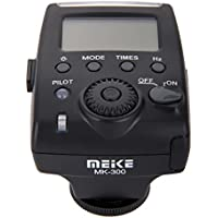 MeiKe MK-300 Mini LCD Screen E-TTL TTL On-camera Speedlite Flash Light with Mini USB Interface for Canon 5D Mark III II 60D DSLR Camera