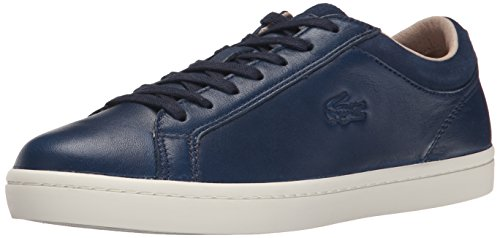 Lacoste Women's Straightset W1 Fashion Sneaker, Navy, 6 M US