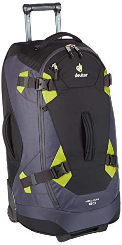 Deuter Helion 80 Roller Duffel Travel Backpack, Black/Moss