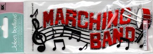 Jolee's Boutique 50-60166 Sticker 3D Marching Band Title Multicolor