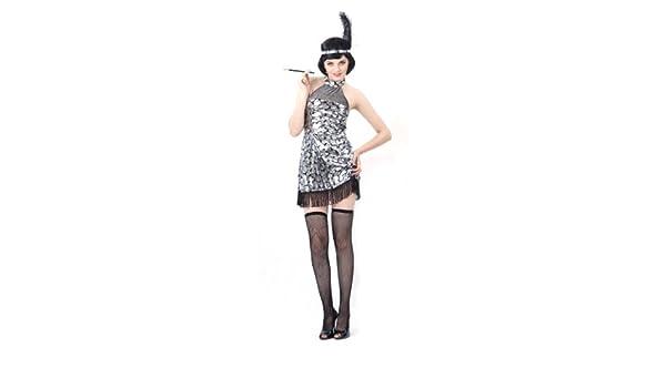 Disfraz de charlestón para mujer: Amazon.es: Juguetes y juegos
