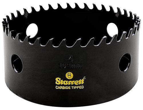 Starrett CT400 Steel High Performance Triple Chip Tungsten Carbide Tipped Hole Saw, Carbide Teeth, 4
