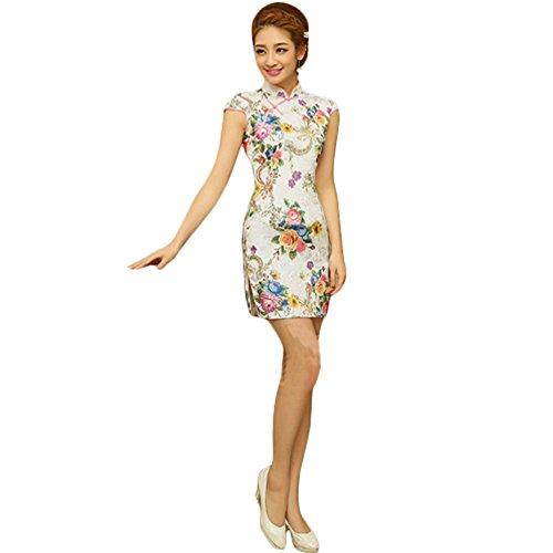 Mode chinesischen Cheongsam Retro Cheongsam Multi uN2aDhfKEN