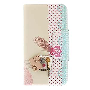 GHK - Japanese Style Flower Pattern Pu Leather Full Body Case For Samsung Galaxy S4 I9500