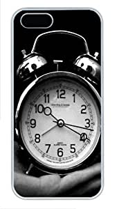 iPhone 5S Cases & Covers -Old Clock Black And White Custom PC Hard Case Cover for iPhone 5/5S ¨C White