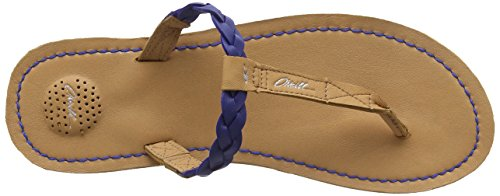 ONeill Venice Crust Leather - Chanclas Mujer Azul (SB7 Surf the Web)