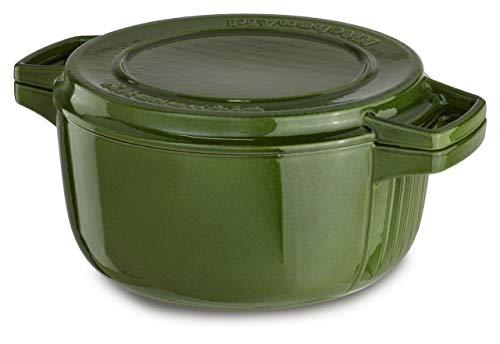 KitchenAid KCPI60CRIG Professional Cast Iron 6-Quart Casserole Cookware - Ivy ()