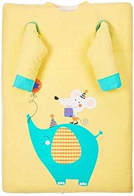 Saco de dormir para bebés, edredón Algodón de doble uso Dos bolsas de cama Mantener el edredón Four Seasons caliente Prevenir las colchas extraíbles ...