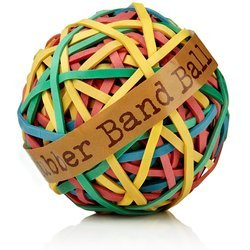 Assorted Band (Industrial Grade 2WFX9 Rubber Band Ball, Assorted Color)