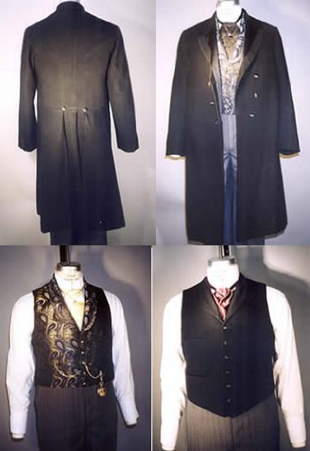Men's Steampunk Clothing, Costumes, Fashion 1850-1915 Coats Vests $17.95 AT vintagedancer.com