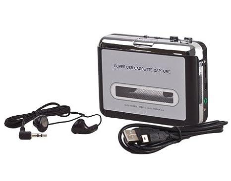 Convertidor USB Cinta Audio Cassette a MP3 CD Reproductor PC Conversor Casete: Amazon.es: Electrónica