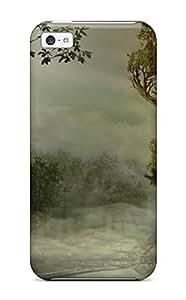 Cute Appearance Cover/tpu GcSUhSi10800KOYej Ancient City Tree Case For Iphone 5c