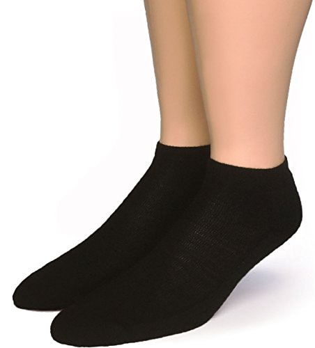 "Warrior Alpaca Socks – Women's""No Show"" Bootie Pure Comfort Alpaca Wool Socks – Black (Large)"