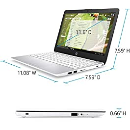 2020 HP Stream 11.6 Inch HD Laptop, Intel Celeron N4000, 4GB RAM, 64GB eMMC, Webcam, Windows 10 S with Office 365 Personal for 1 Year (Google Classroom or Zoom Compatible) /Legendary Accesorries