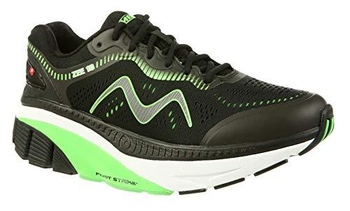 MBT Shoes Men's Zee 18 Athletic Shoe: Black/Green 10.5 Medium (D) Lace