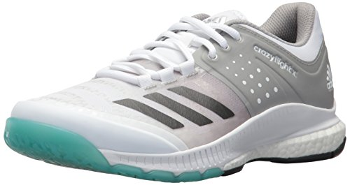 adidas Women's Crazyflight X Volleyball Shoe,White/Night Metallic/Grey,9 M US by adidas