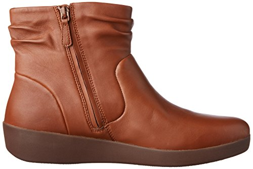 Fitflop Donna Skatebootie Leather Marrone Caramel 098 Stivaletti pFprfwq