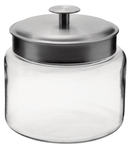 Anchor 77977 Montana Jar with Brushed Aluminum Metal Cover, 64 oz. (Jar Anchor Montana)