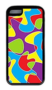 iPhone 5c Cases - Cheap And Beautiful Summer TPU Black Cases Personalized Design A Variety Of Color Puzzles