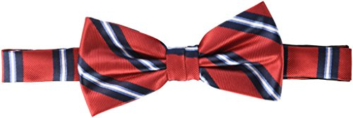 Nick Graham Men's Track Stripe Bow Tie, Red, One Size