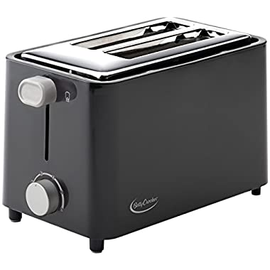 Betty Crocker BC-2605CB 2-Slice Toaster, Black
