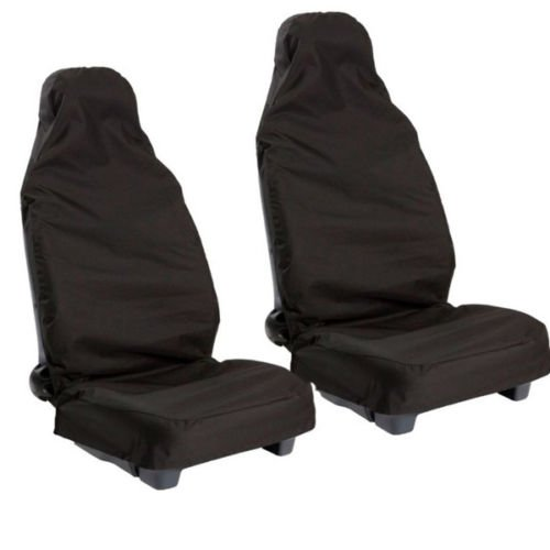 Nissan 350Z 370Z Quashqai Water Proofed Heavy Duty Everday Use Airbag Ready Seat Covers Black Pair