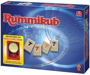 Jumbo 03650 Rummikub - Juego de Mesa sobre números (Incluye cronómetro): Amazon.es: Juguetes y juegos
