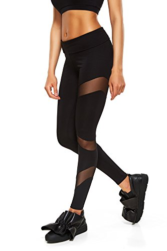 Zen Wear Yoga Pants for Women   Mesh Leggings   Made with Organic Cotton   Black   Small (S) Review