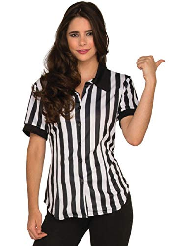 Women's Fitted Football Referee Shirt Costume for $<!--$49.64-->