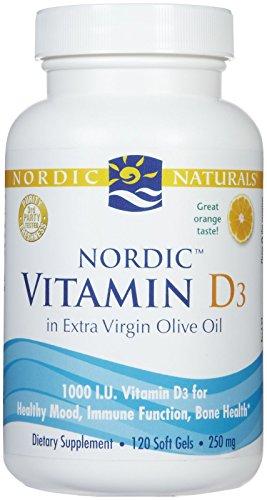 Nordic Naturals - Vitamin D-3, 1000 IU, 120 softgels