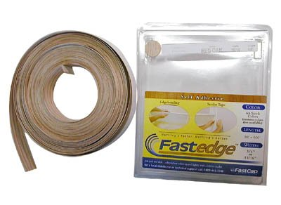 FastCap FastEdge Peel & Stick Edge Tape 250' Roll PVC Hardrock Maple by Fastcap