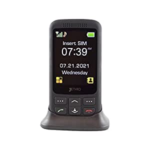 """[Thanksgiving Promotion] Jethro [SC435] 3G Unlocked Classic Slider-Style Senior & Kids Cell Phone, FCC/IC Certified, SOS Emergency Button, 2.8"""" Large LCD with Large Keypad."""