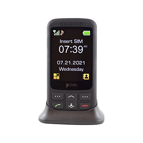[SALE ] Jethro [SC435] 3G Unlocked Classic Slider-Style Senior & Kids Cell Phone, FCC/IC Certified, SOS Emergency Button, 2.8