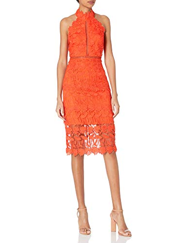 Bardot Women's All Over lace Scalloped Edge Along Neck Armhole and Hem Party Dress, Grenadine, xs