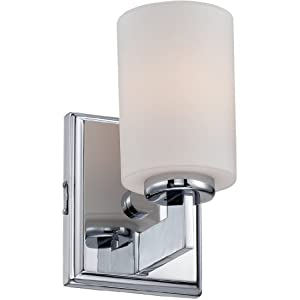 "Quoizel TY8601C Taylor Bath Wall Sconce Lighting, 1-Light, 100 Watt, Polished Chrome (8""H x 5""W)"