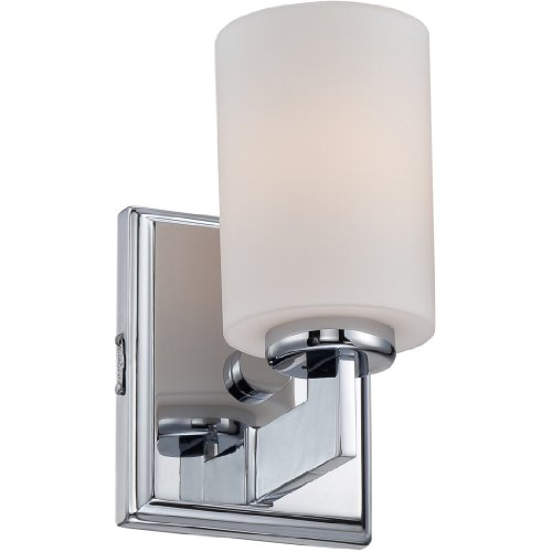 Quoizel TY8601C Taylor Bath Wall Sconce Lighting, 1-Light, 100 Watt, Polished Chrome (8